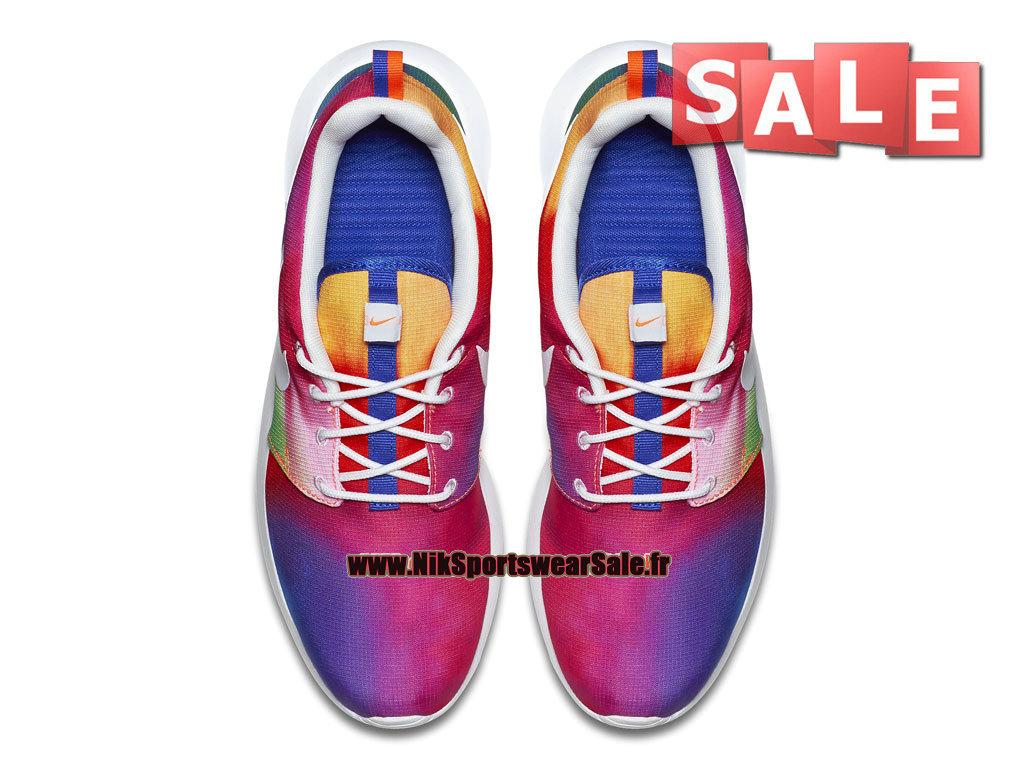 ae710a922661 ... Nike Roshe One Print - Men´s Nike Sports Shoe Court Purple White  ...