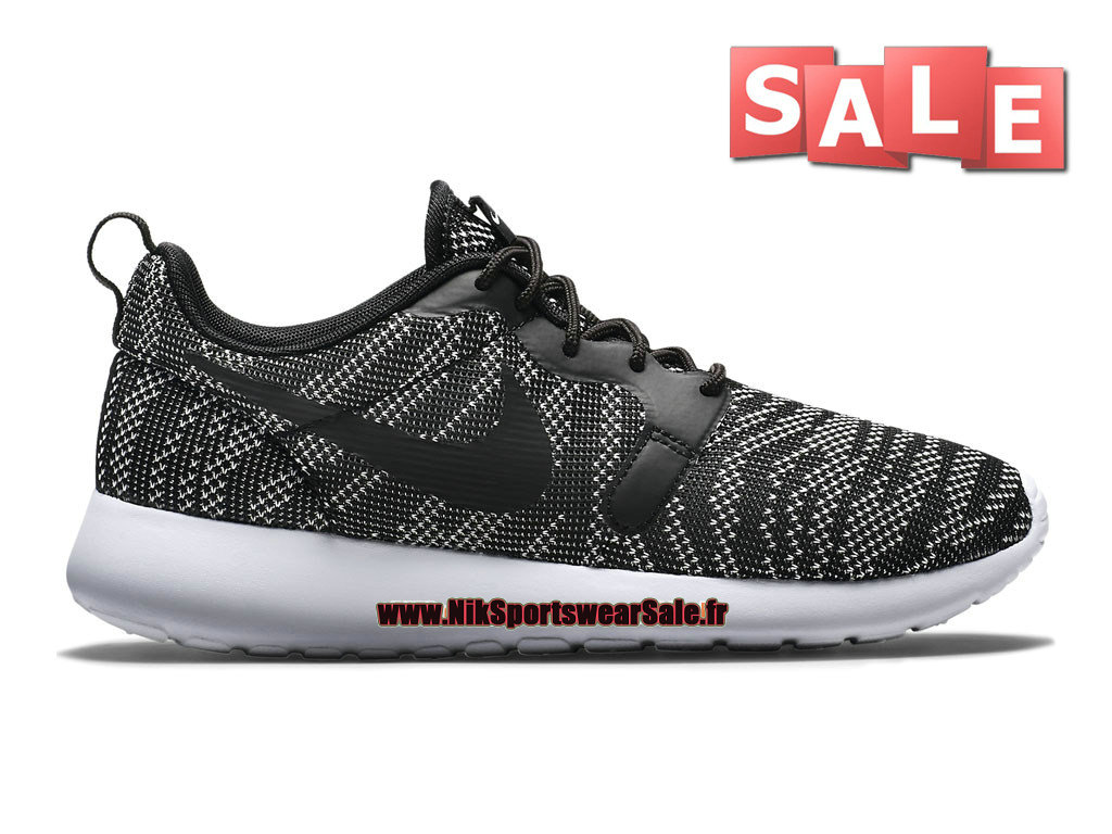 Nike Roshe One/Run Knit Jacquard - Chaussures Nike Sportswear Pas Cher Pour Homme Blanc/Noir 705217-100H