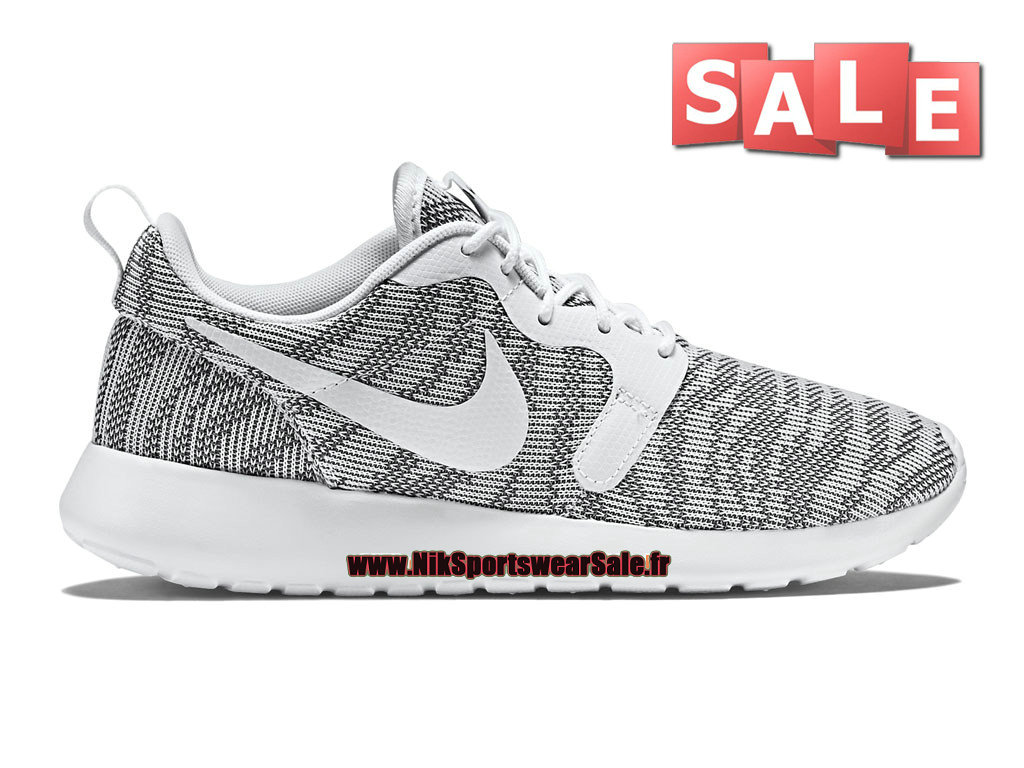 Nike Roshe One/Run Knit Jacquard - Chaussures Nike Sportswear Pas Cher Pour Homme Bleu-gris/Blanc 705217-003H