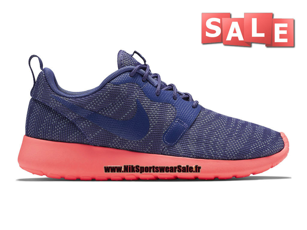 Nike Roshe One/Run Knit Jacquard - Chaussures Nike Sportswear Pas Cher Pour Homme Bleu polaire/Lave piquant/Bleu légende 705217-400H