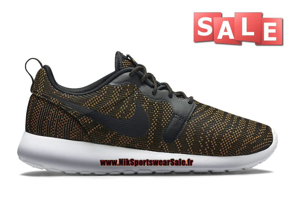 Nike Roshe One/Run Knit Jacquard - Chaussures Nike Sportswear Pas Cher Pour Homme Bronze doré/Marine/Noir 705217-700H