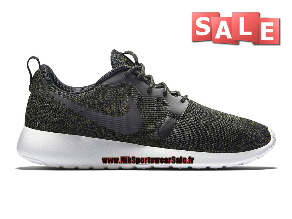 Nike Roshe One/Run Knit Jacquard GS - Chaussures Nike Sportswear Pas Cher Pour Femme/Enfant Faded Olive/Sail/Black 705217-300