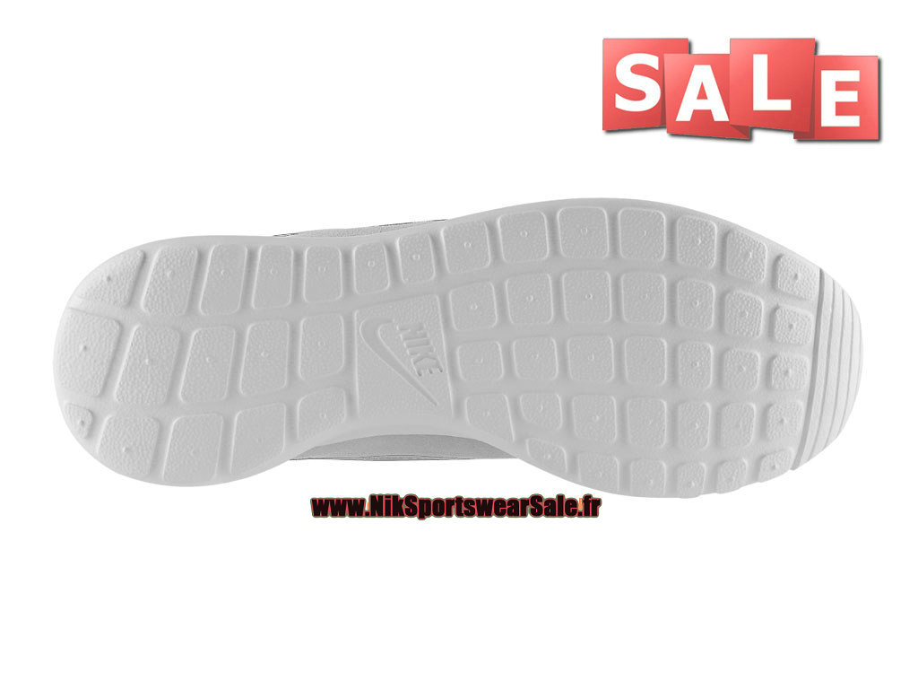 sale retailer e40f9 cee16 ... Nike Roshe One Run Suede - Chaussures Nike Sportswear Pas Cher Pour  Homme Blanc 685280