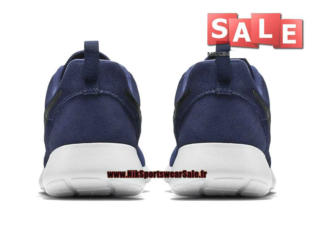 quality design 04411 d5dc6 ... Nike Roshe OneRun Suede - Chaussures Nike Sportswear Pas Cher Pour  Homme Bleu nuit