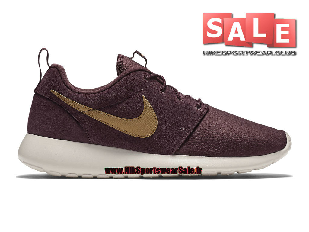 nike roshe run suede bordeaux homme