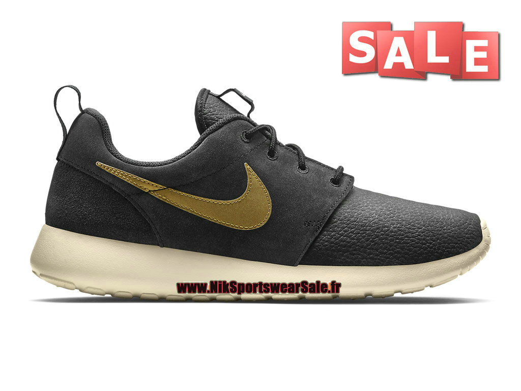 Nike Roshe One/Run Suede - Chaussures Nike Sportswear Pas Cher Pour Homme Brun velours/Or métallique/Dune Sable 685280-273