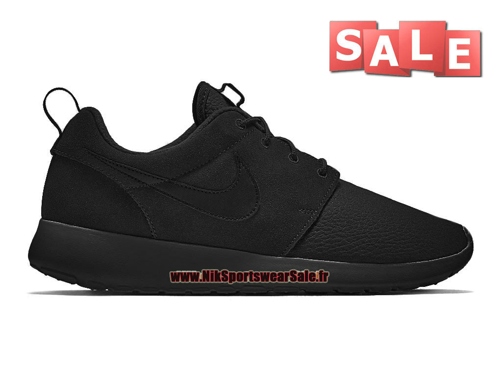 Nike Roshe One/Run Suede - Chaussures Nike Sportswear Pas Cher Pour Homme Noir 685280-100