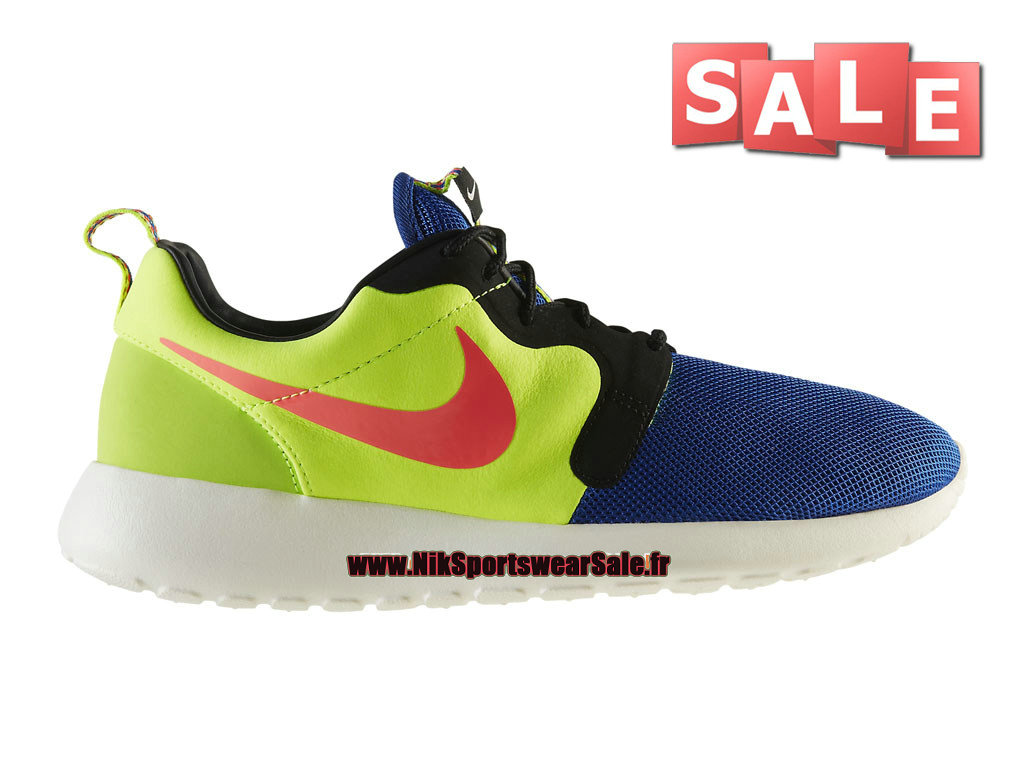design intemporel f20d6 6ae23 Nike Roshe Run Hyperfuse Premium QS - Chaussures Nike Sportswear Pas Cher  Pour Homme Bleu électrique/Hyper cocktail/Volt/Ivoire 669689-400-Officiel  de ...