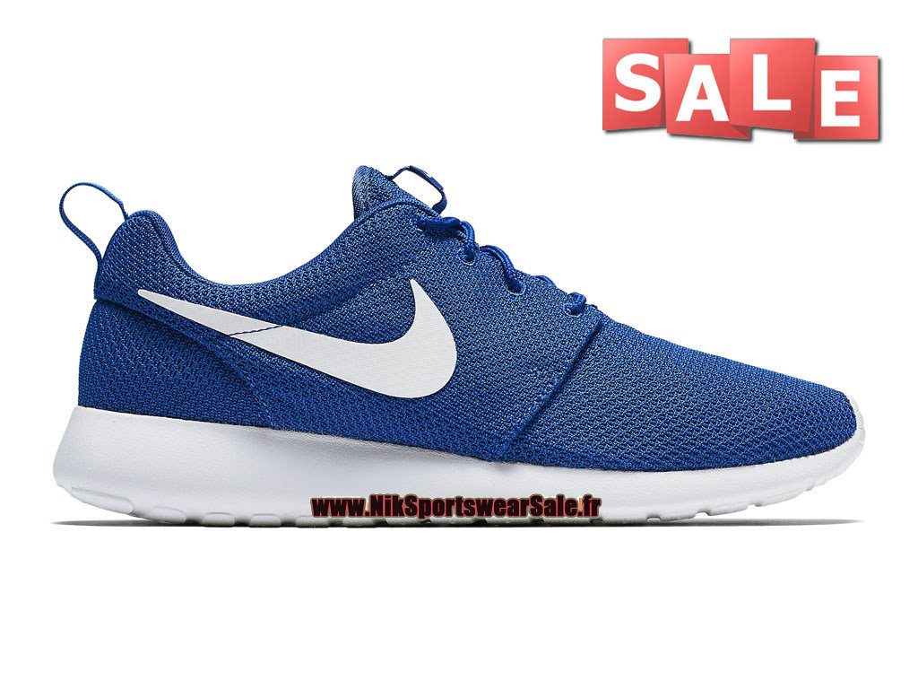 official photos aad8c 988dd Nike Roshe Run One - Chaussure de Nike Sportswear Pas Cher Pour Homme Bleu  photo ...