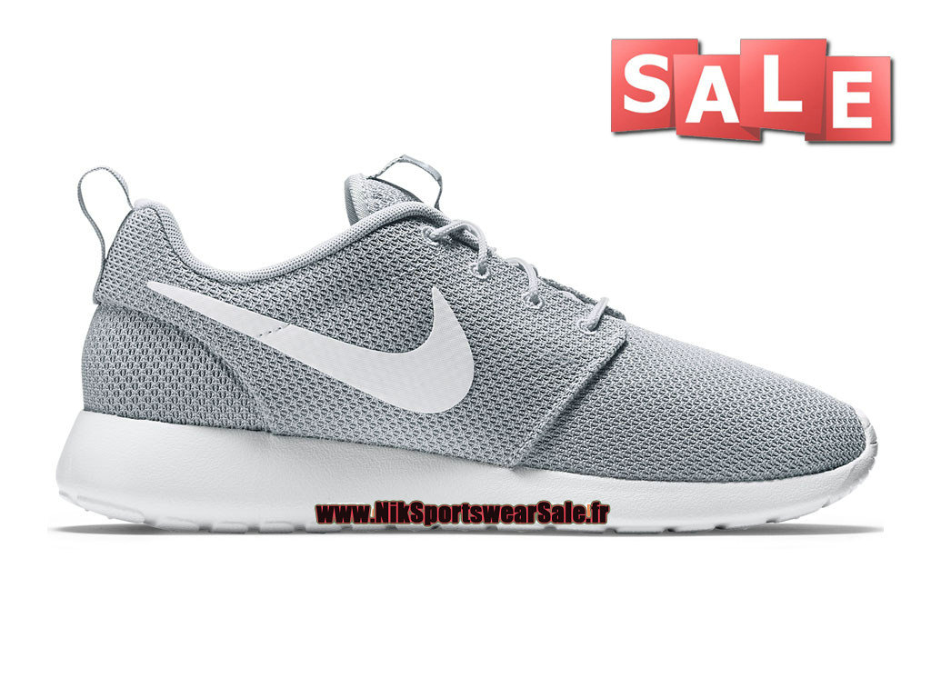 Nike Roshe Run/One - Chaussure de Nike Sportswear Pas Cher Pour Homme Gris loup/Blanc 511881-023