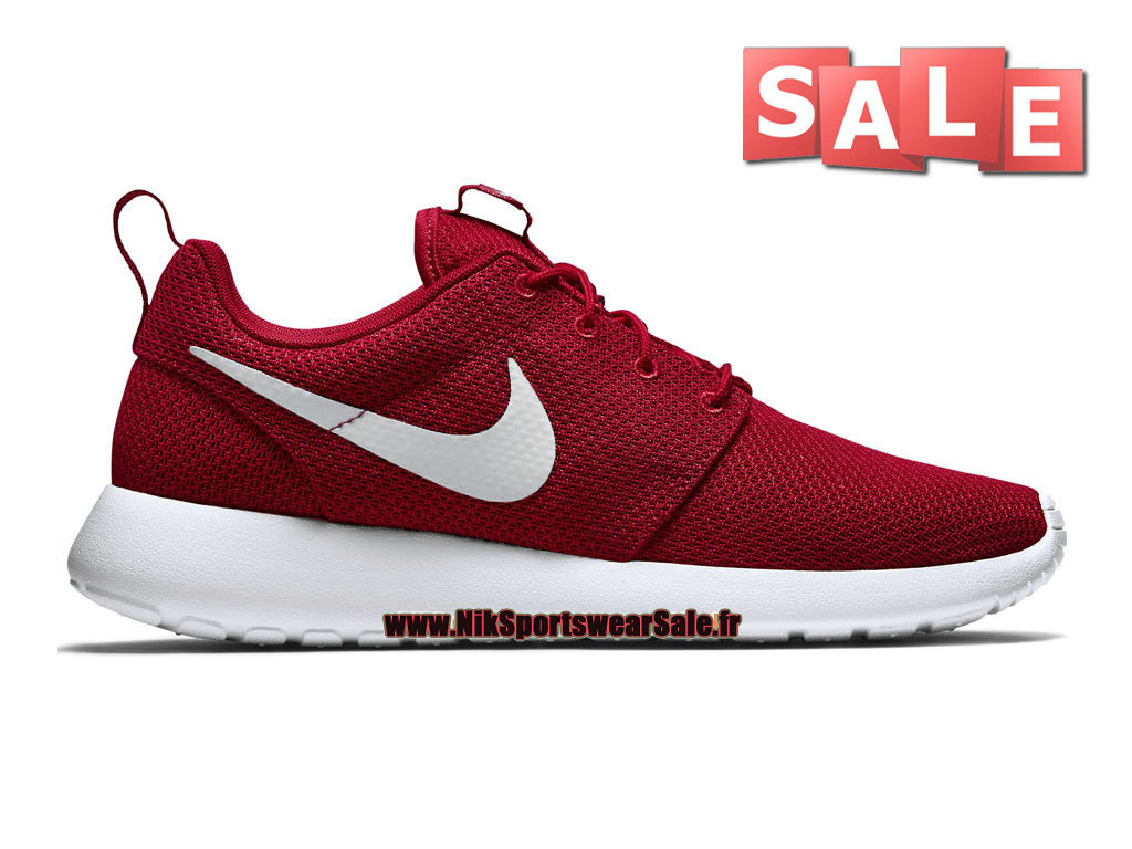 Nike Roshe Run/One iD - Chaussure de Nike Sportswear Pas Cher Pour Homme Rouge équipe/Blanc 511881-601iD