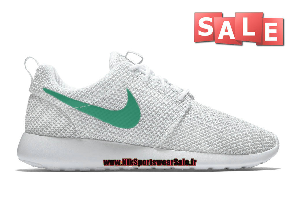 Nike Roshe Run/One iD GS - Chaussure de Sports Nike Pas Cher Pour Femme/Enfant Blanc/Vert 511882-070iD