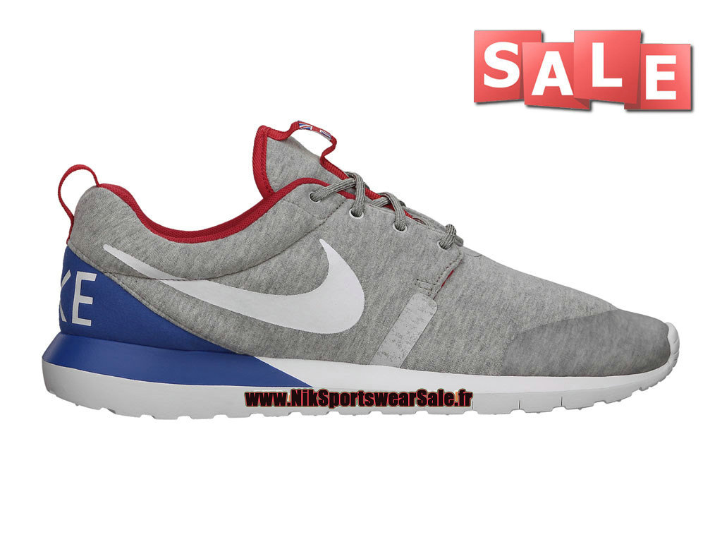 "Nike RosheRun NM W SP ""Britain"" (World Cup Pack) - Chaussures Nike Sportswear Pas Cher Pour Homme Gris chiné/Blanc/Rouge Université 652804-016"