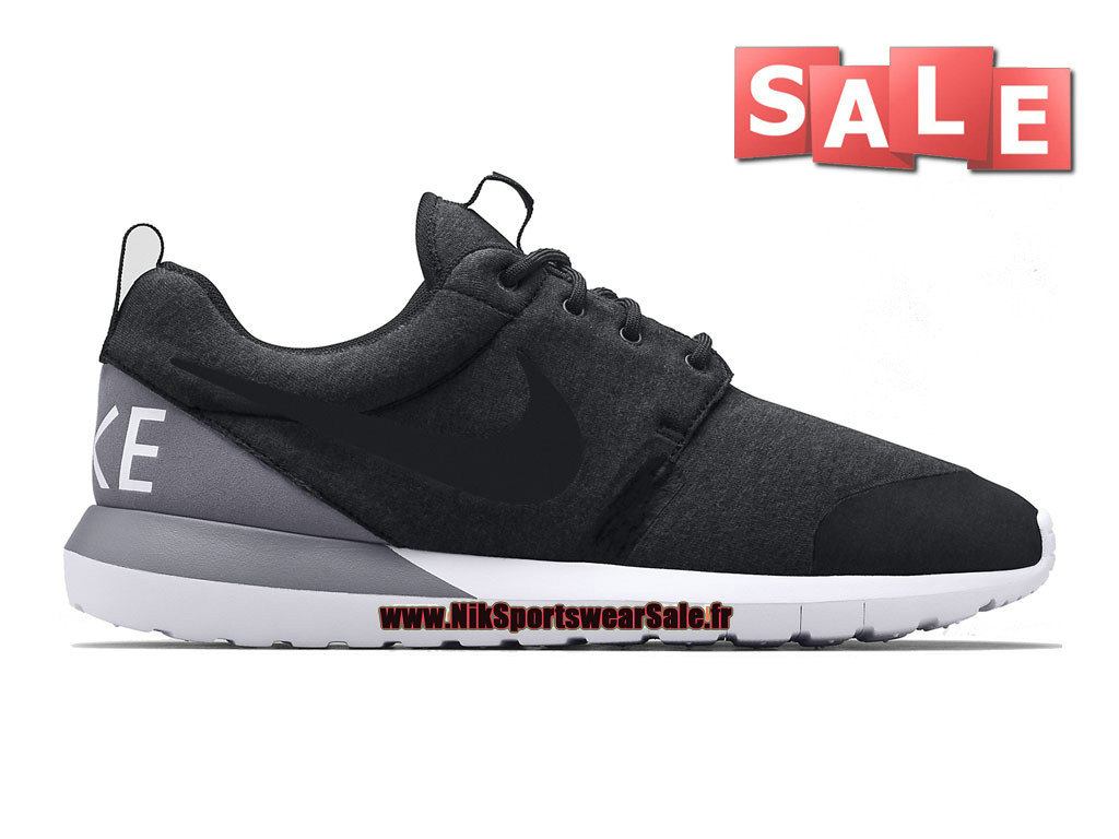 "Nike RosheRun NM W SP ""Tech Fleece"" Pack - Chaussures Nike Sportswear Pas Cher Pour Homme Anthracite/Bleu-gris 652804-010"