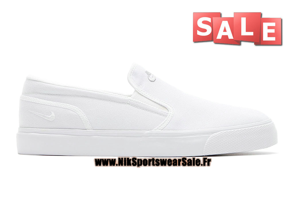 new concept 48f04 2ec8d Nike Toki Printed Slip-On - Chaussure Nike Officiel Pas Cher Pour Homme  Blanc 724762