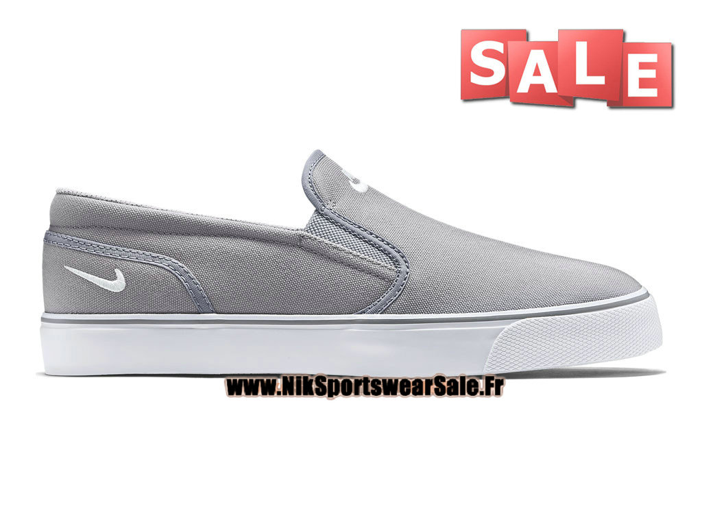 Nike Toki Printed Slip-On - Chaussure Nike Officiel Pas Cher Pour Homme Gris loup/Blanc 724762-010