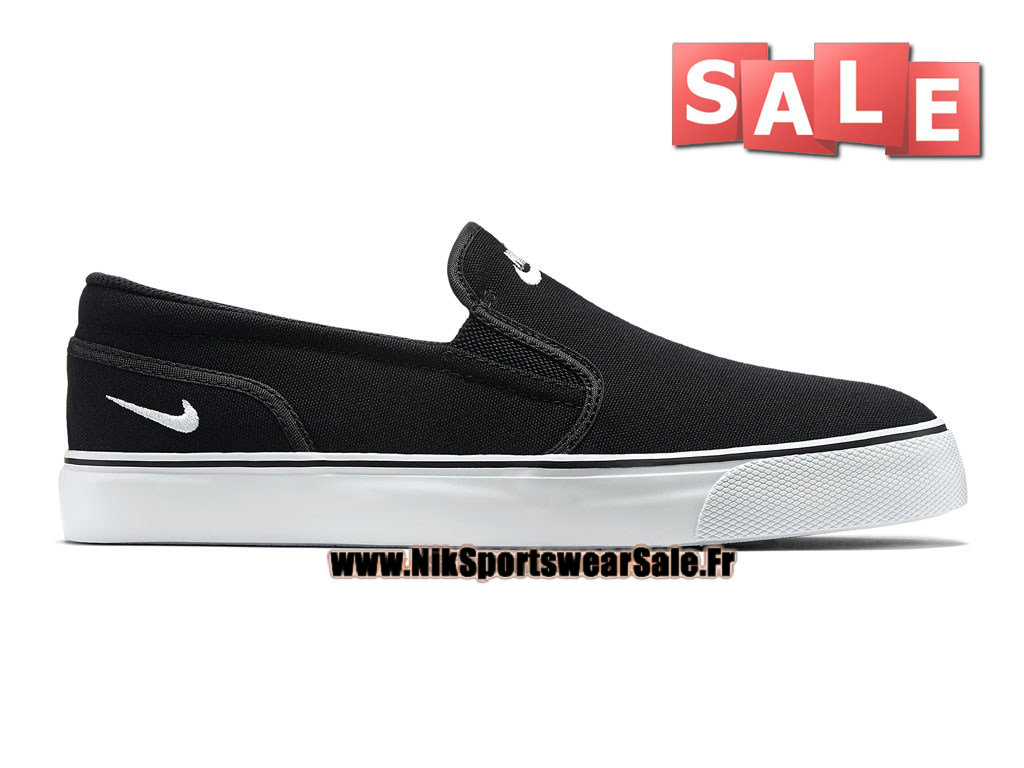 Nike Toki Printed Slip-On - Chaussure Nike Officiel Pas Cher Pour Homme Noir/Blanc 724762-011