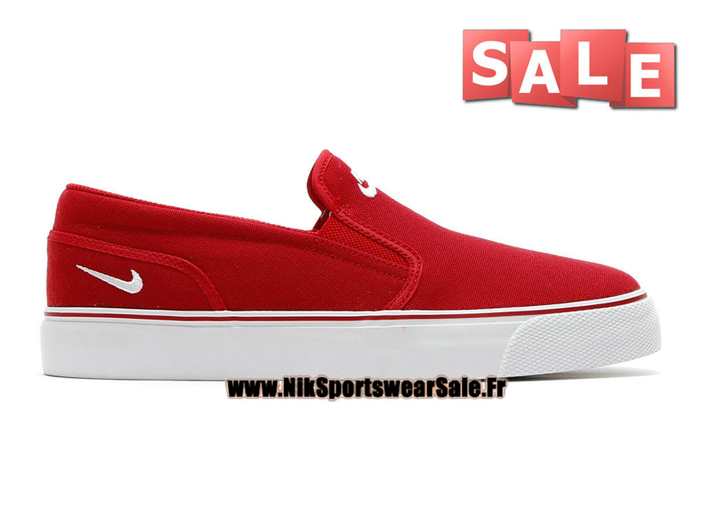 Nike Toki Printed Slip-On - Chaussure Nike Officiel Pas Cher Pour Homme Rouge/Blanc 724762-610