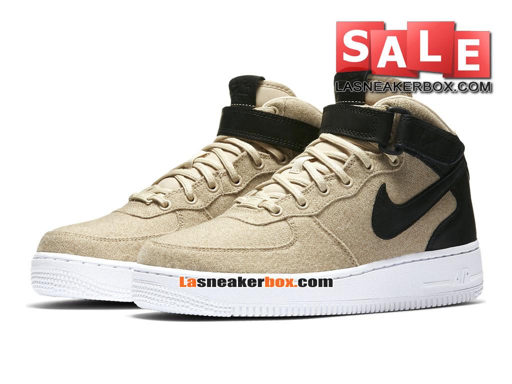 Nike Wmns Air Force 1 07 Premium Low Chaussures Nike Sportswear Pas Cher Pour FemmeEnfant Brun vachetteNoirBlancNoir