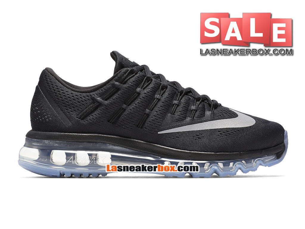 nike wmns air max 2016 chaussure nike running pas cher pour femme gar on noir blanc 806772 001. Black Bedroom Furniture Sets. Home Design Ideas