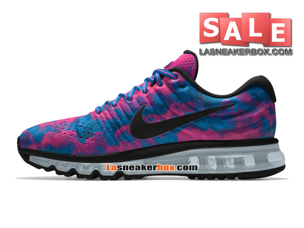 new product 64b90 29fe4 ... Nike Wmns Air Max 2017 iD - Chaussure de Running Nike Custom Pas Cher  Pour Femme ...
