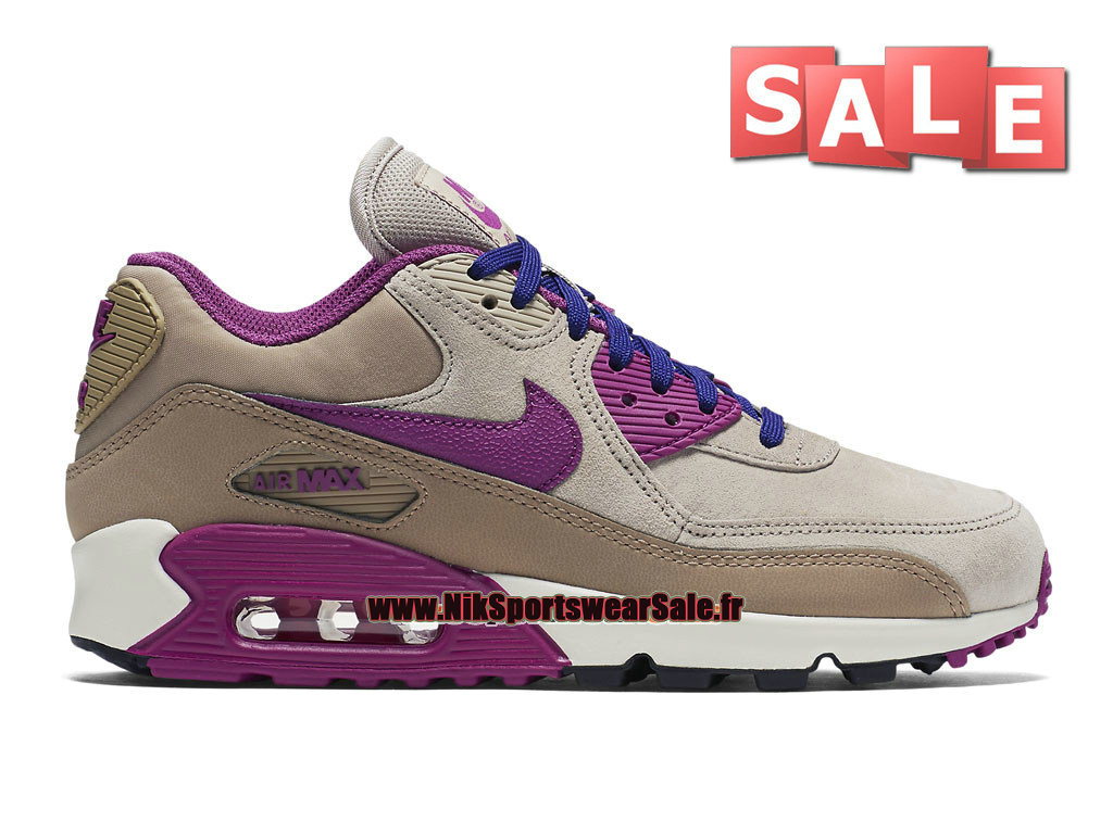 f2eb35afb6f11 Nike Wmns Air Max 90 Leather LTR - Chaussure de Nike Sports Pas Cher Pour  ...