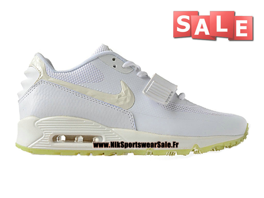 Nike Wmns Air Max 90 Yeezy 2 SP (Blkvis) - Chaussure Nike Sportswear Pas Cher Pour Femme/Enfant Blanc/Vert rayonnant 508214-003G