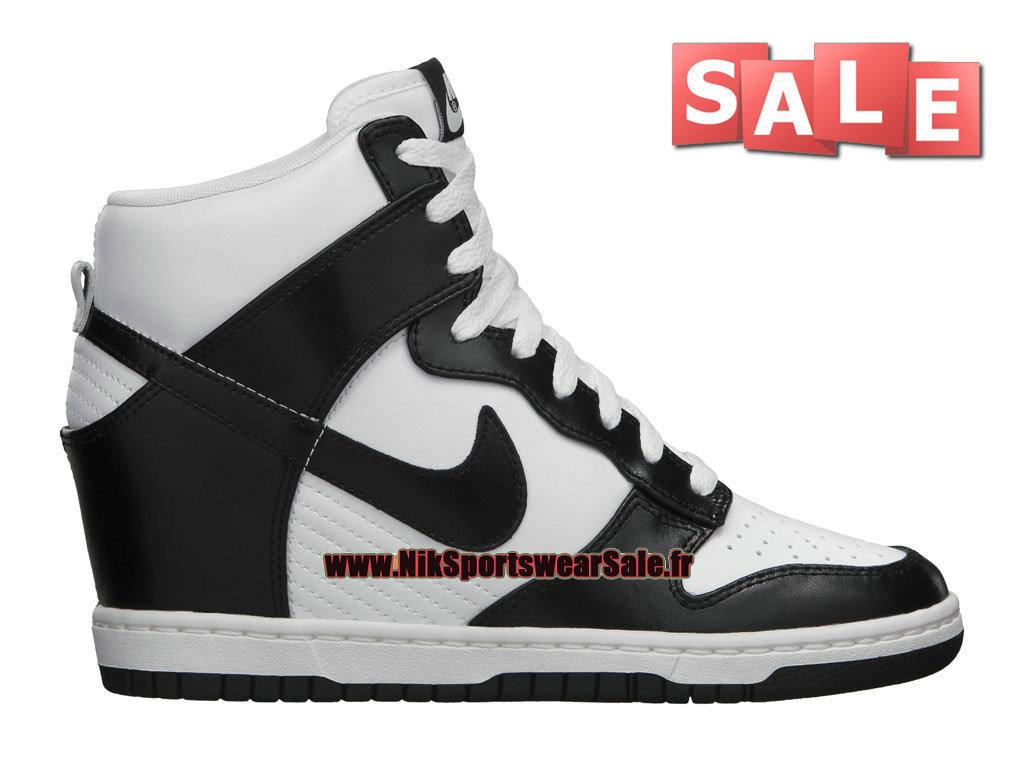 super popular 6d8e7 60244 ... reduced nike wmns dunk sky hi chaussure nike montante pas cher pour  femme fille noir 583a6