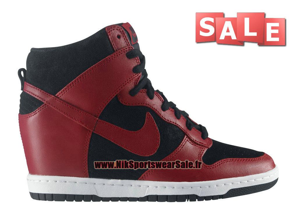 super popular d11ba b8716 Nike Wmns Dunk Sky Hi - Chaussure Nike Montante Pas Cher Pour Femme Fille  Noir ...