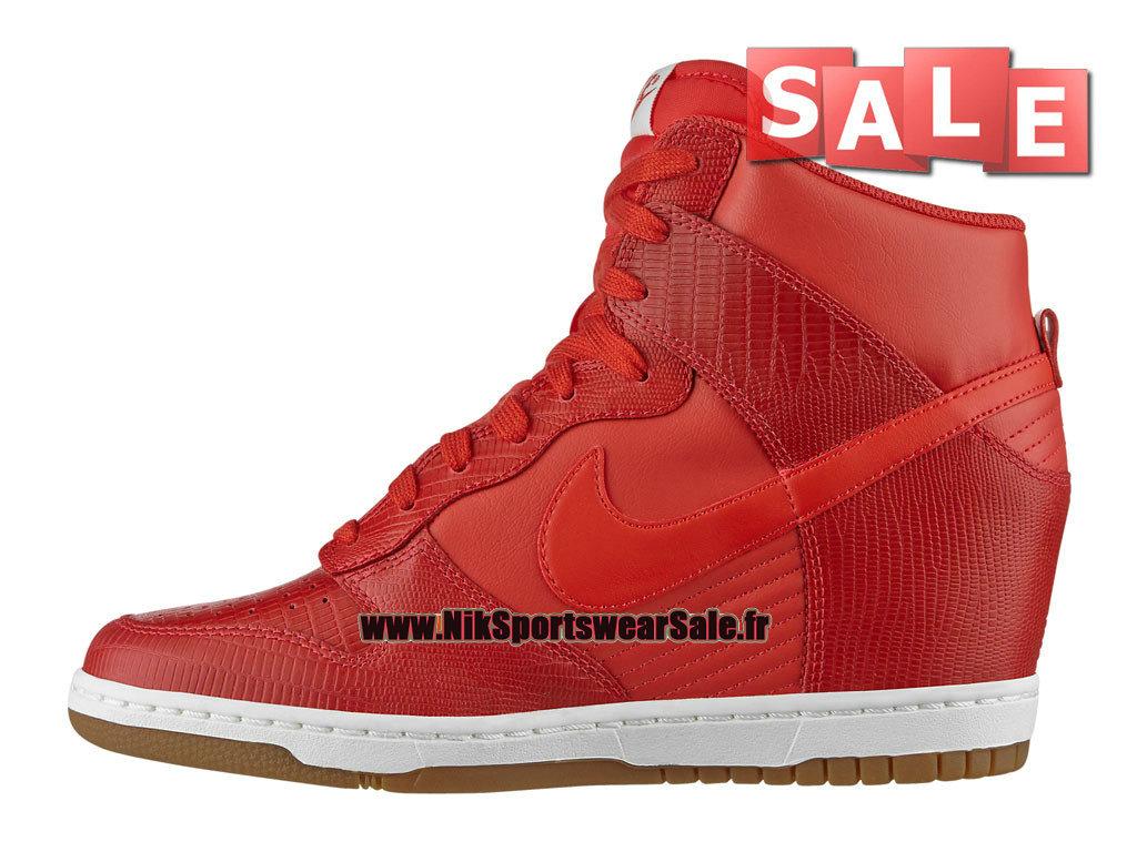 hot sale online 4ff97 33883 ... Nike Wmns Dunk Sky Hi - Chaussure Nike Montante Pas Cher Pour Femme Fille  Rouge ...