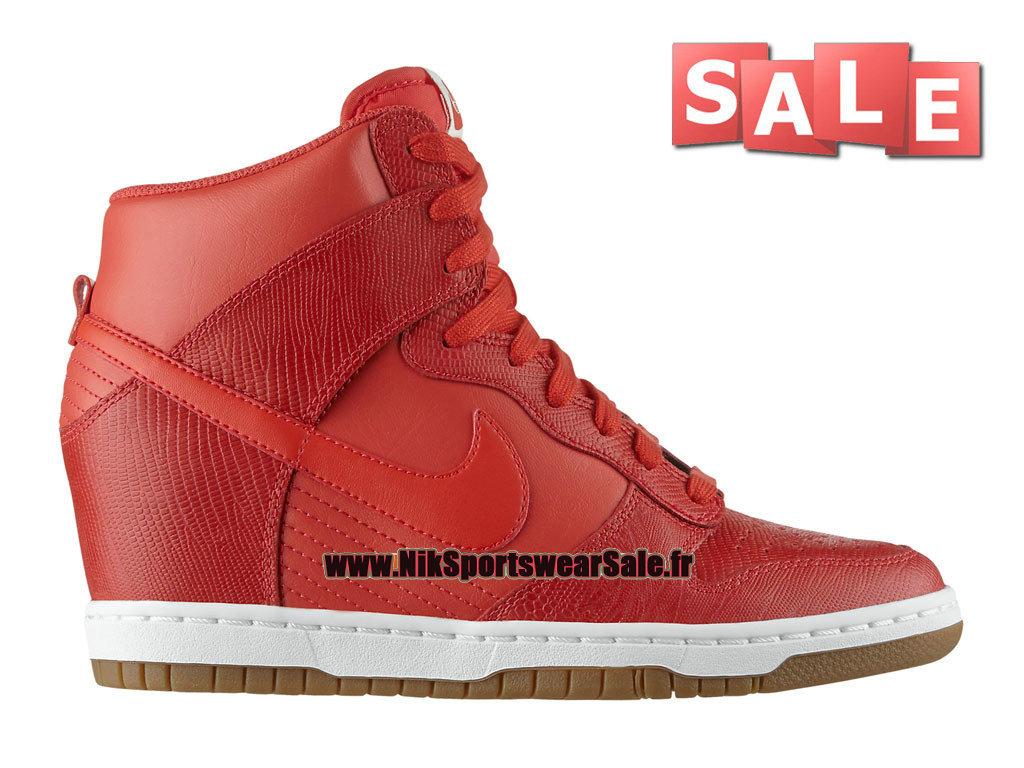 huge discount 04868 2e1ec Nike Wmns Dunk Sky Hi - Chaussure Nike Montante Pas Cher Pour Femme Fille  Rouge ...