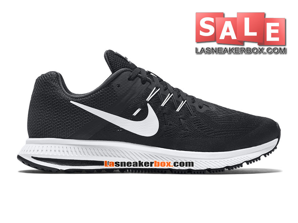 Nike Wmns Zoom Winflo 3 - Chaussure de Running Nike Pas Cher Pour Femme/Fille Noir/Anthracite/Blanc 807279-001