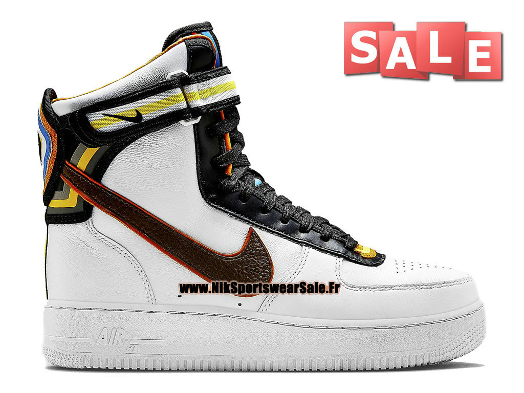 Nike X Riccardo Tisci Air Force 1 Hi RT - Chaussure Nike Montante Pas Cher Pour Homme Blanc/Brun baroque 669919-120