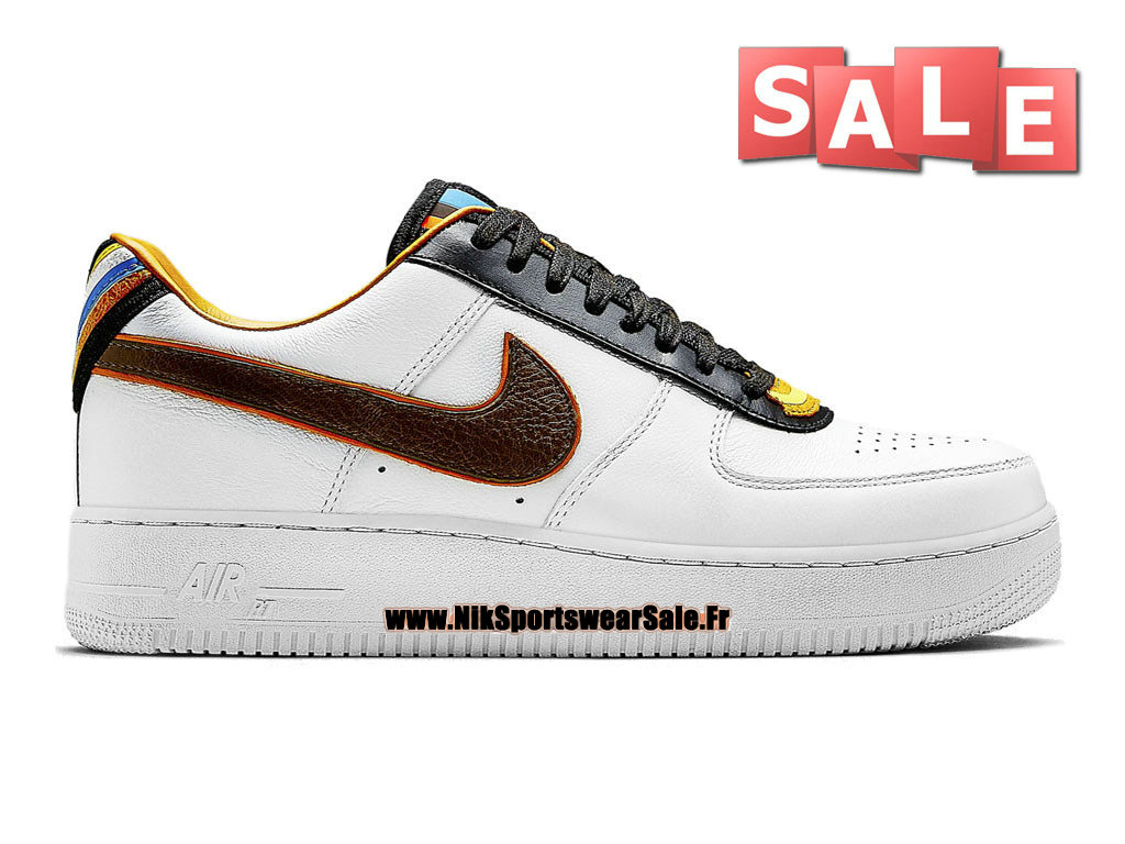 Nike X Riccardo Tisci Air Force 1 Low RT - Chaussure Nike Sportswear Pas Cher Pour Homme Blanc/Brun baroque 669917-120