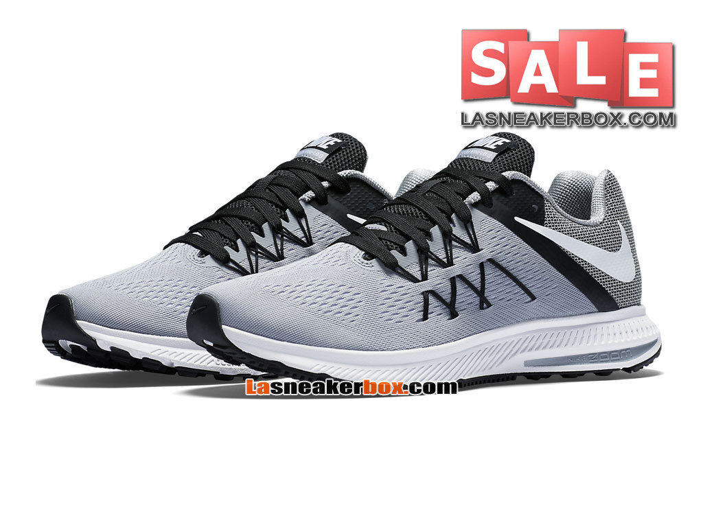 low priced 3e38b bd5b6 ... new zealand nike zoom winflo 3 chaussure de running nike pas cher pour  homme gris loup