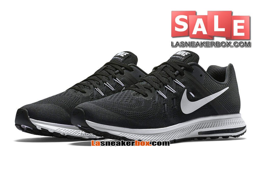 new styles fb260 8c1b0 ... Nike Zoom Winflo 3 - Chaussure de Running Nike Pas Cher Pour Homme Noir  Anthracite ...