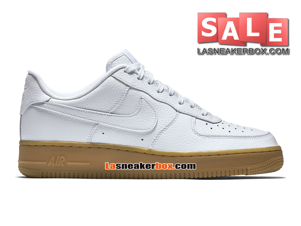 NikeLab Air Force 1 Low Ultra Flyknit - Chaussure Nike Sportswear Pas Cher Pour Homme Blanc/Blanc/Marron classique 488298-159