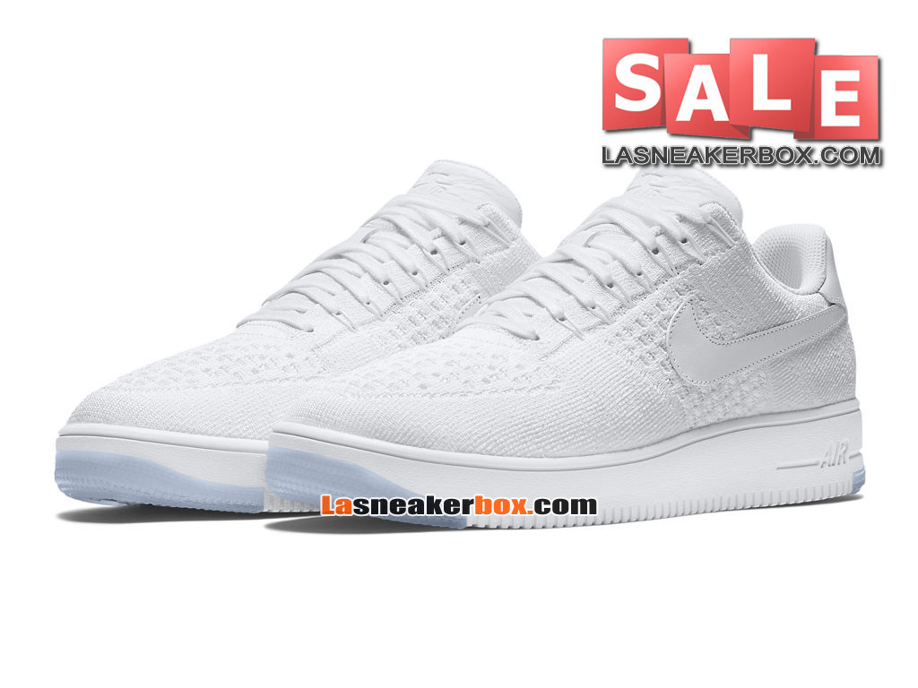 super popular 33590 f9a7f ... NikeLab Air Force 1 Low Ultra Flyknit - Chaussure Nike Sportswear Pas  Cher Pour Homme Blanc ...