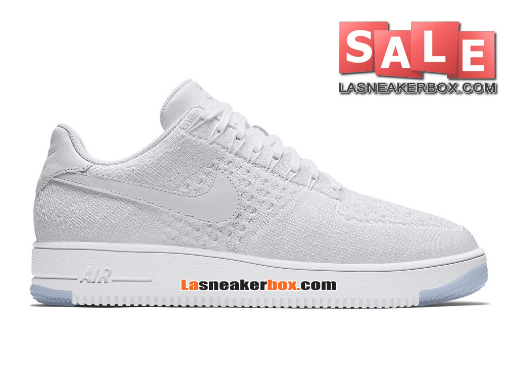 NikeLab Air Force 1 Low Ultra Flyknit - Chaussure Nike Sportswear Pas Cher Pour Homme Blanc/Glacier/Blanc 817419-100