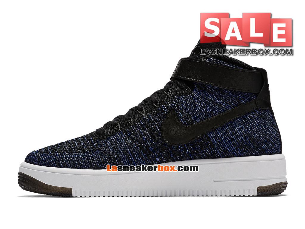 the best attitude 1c3dc e6444 ... NikeLab Air Force 1 Low Ultra Flyknit - Chaussure Nike Sportswear Pas  Cher Pour Homme Bleu ...
