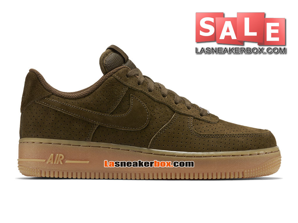 NikeLab Air Force 1 Low Ultra Flyknit - Chaussure Nike Sportswear Pas Cher Pour Homme Loden sombre/Gomme marron/Loden sombre 749263-300H