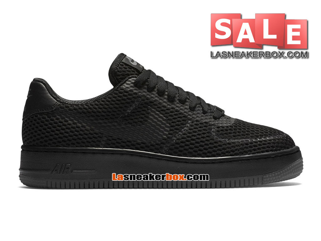 NikeLab Air Force 1 Low Ultra Flyknit - Chaussure Nike Sportswear Pas Cher Pour Homme Noir/Gris froid/Noir 833123-001H