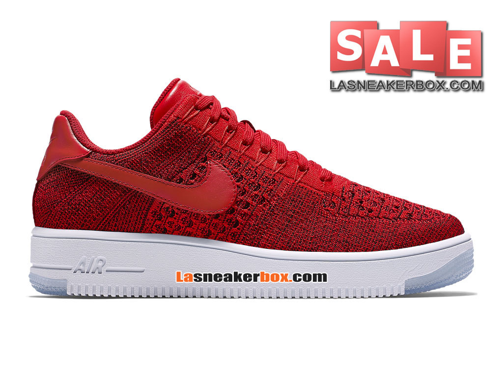 new arrival 95496 ef222 NikeLab Air Force 1 Low Ultra Flyknit - Chaussure Nike Sportswear Pas Cher  Pour Homme Rouge