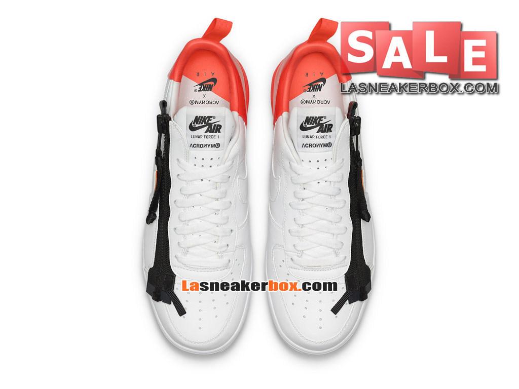 buy online 5993e 940e9 ... NikeLab x Acronym Lunar Force 1 SP - Chaussures Nike Sportswear Pas  Cher Pour Homme Blanc ...