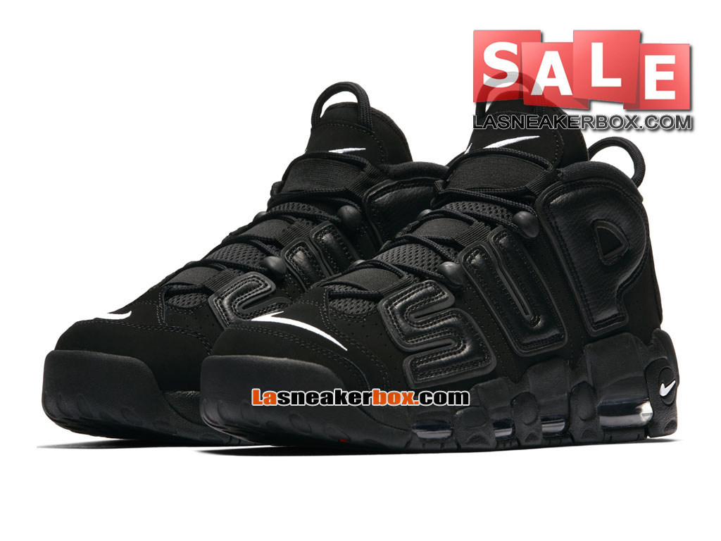 info for 0dfae 6f112 ... Supreme x NikeLab Air More Uptempo SP - Chaussures Nike LifeStyle Pas  Cher Pour Homme Noir ...